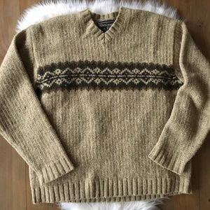 VTG ABERCROMBIE & FITCH 100% Wool V-neck Sweater